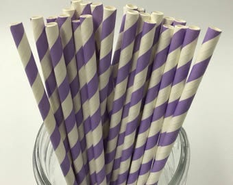Light Purple Paper Straw Pack