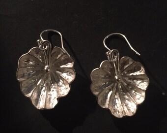 shell earrings in sterling