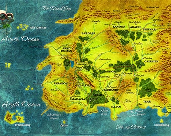 Wheel Of Time, Map of Randland Limited Edition