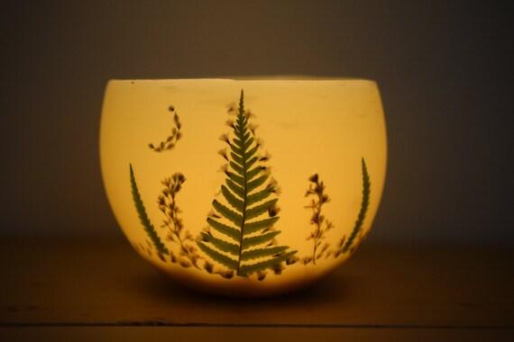 luminary bees wax candle bowl