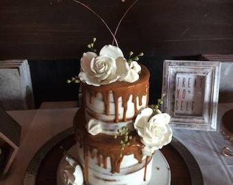 Wire cake topper