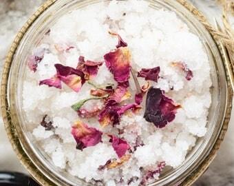 Rose Sugar Scrub. Body Polish. Body Scrub. All Natural Scrub. Handmade Scrub. Essential Oil Scrub. 12oz.