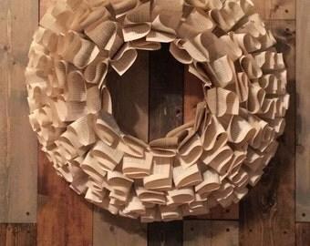 Book wreath (large)