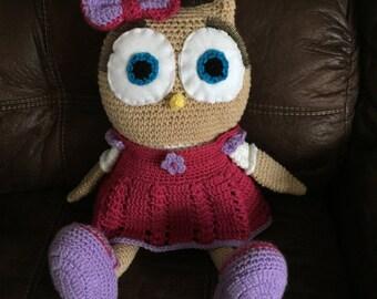 Large Crochet Owl