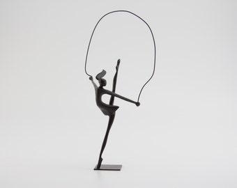 Ballerina jumping rope. Ballerina Base Bronze  Sculpture