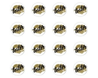 Gold & Black Tester Stickers
