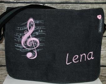 Note Pocket embroidered written Briefcase satchel diaper bag