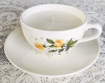 Vintage Tea Cup Candles
