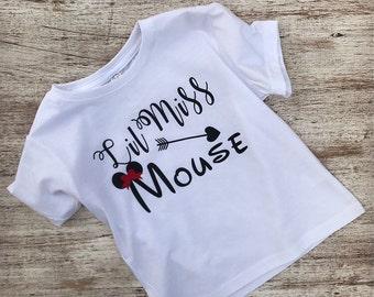 Lil Miss Mouse Shirt, Minnie Mouse Shirt