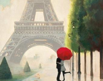 4 x Paper Napkins - Paris Romance - Ideal for Decoupage / Decopatch [CTA-130827A]