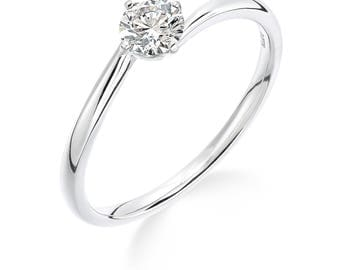 1/4 carat platinum diamond engagement ring