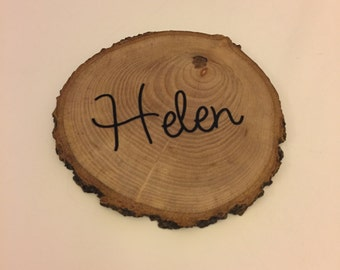 Personalised Wooden Coaster - Wedding Favour - Placename - wood