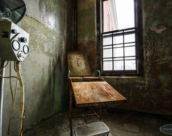 The Doctor Will See You Now - Urban Explorations- Abandoned Psychiatriac Hospital, urbex. insane asylum, patient room, sunlight, windows