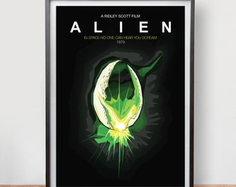 Alien (1979) Dix Fan Fiction - Cubist Illustration