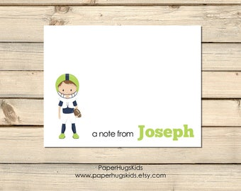 PRINTABLE Football stationery, Football Note Cards, Kids Thank You Cards, Personalized Stationery, Note Cards, Sports / Digital File