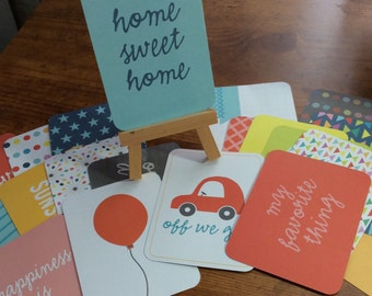 Project Life Destash-20 3 x 4 Cards-Pack 2-Happy Edition
