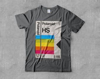 VHS Lives Video Tape Polaroid HS Retro 90's TV Movie Vx Film Skate Art Record Rainbow Mens Unisex Tee T-Shirt