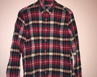 J Crew Plaid Oxford Shirt