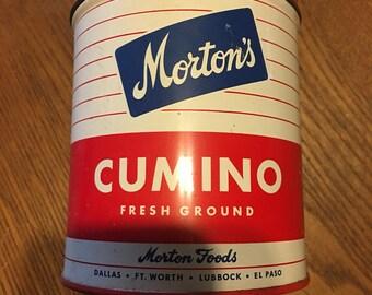Vintage Mortons Comino Tin!