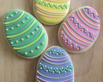 1 dozen Easter Egg Cookies