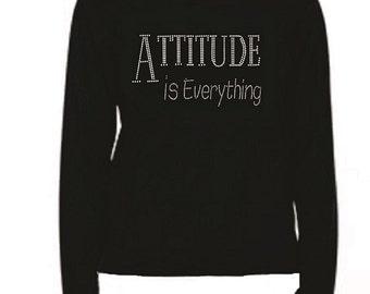 Rhinestone Attitude Ladies T Shirt                                                                  LR A1U3