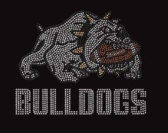 Rhinestone Bulldogs  Lightweight T-Shirt or DIY Iron On Transfer           AHLL