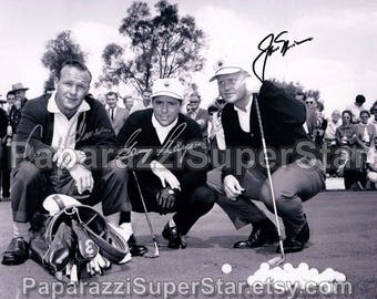Jack Nicklaus / Arnold Palmer / Gary Player signed 8x10 Autograph RP - Great Gift Idea - Ready to Frame and Display photo picture