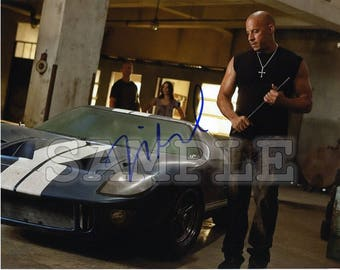 Vin Diesel Signed 8x10 Autograph RP - Great Gift Idea - Ready to Frame photo picture