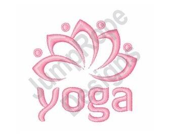 Yoga Lotus - Machine Embroidery Design