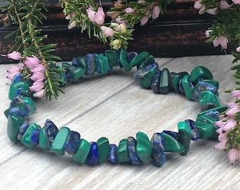Lapis Lazuli & Malachite Crystal Bracelet