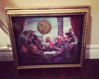 The Last Supper 3-D Hologram Clock