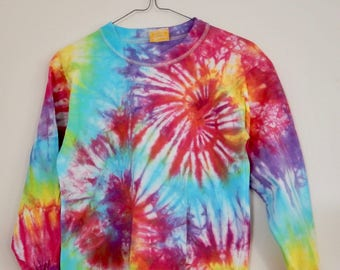 Size 10 double spiral rainbow long sleeve top