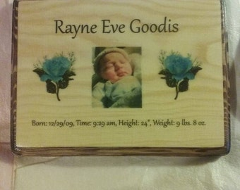 New Born Baby Plaque