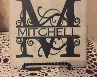 Personalized Family Tile for Home, Wedding, Anniversary gift Home decor