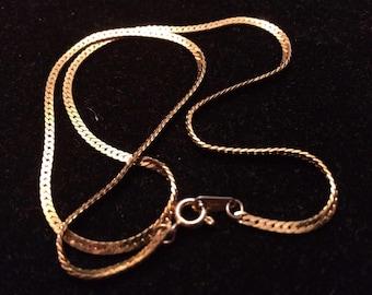 Vintage Elegant Crown Trifari Snake Chain Necklace