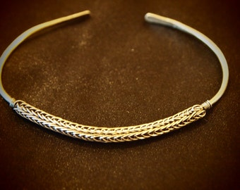 Silver Viking Knit Braclet ~ Viking Jewelry ~ Silver Braclet ~ Everyday Jewelry ~ Gift for her