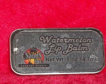 Watermelon Lip Balm in a sliding tin