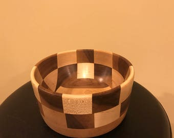 Maple & Walnut Checkerboard Bowl