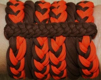 Bracelets Brown Orange, lycra, 100% Handmade