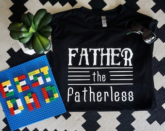 father the fatherless adult shirt