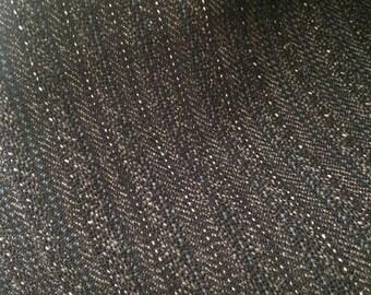 Italien Woolen Fabric / Tissu de laine - Gray Stripe/ Rayures gris