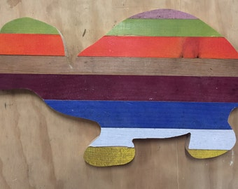 Wooden Turtle wall hanging art