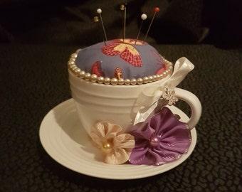 Adorable Handmade Teacup Pincushion