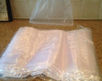 """White Organza Bags (50 per pack) 10"""" x 12"""""""