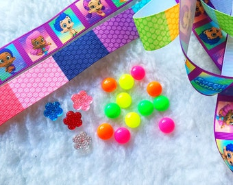 Bubble Groupies, Ribbons,Grosgrain,DYI,Craft,Girl,Hair bow,Bow,Bead,Scrapbook