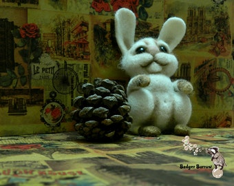 gift for her gift for girlfriend gift for mother buddha statue needle felted animal Wool felt Gift for her Needle felted bunny mothers day