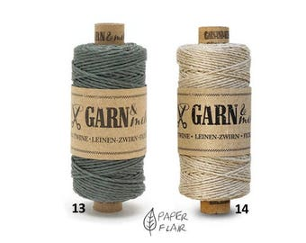 Baker yarn of bakers Twine linen Zwirn natural grey 45 m (G)