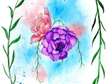 Print - Simple Flowers