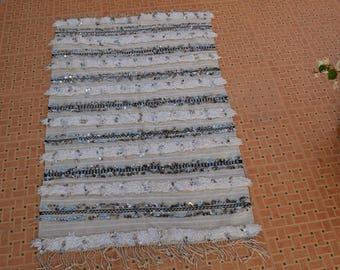 Moroccan wedding blanket,Handmade blanket;Berber handira blanket MH 025  160 cm * 100  cm / 63 inch x 39.5 inch