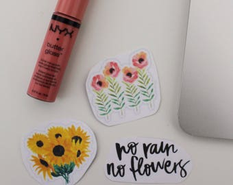 Petals and beans sticker collection (pack of 3)